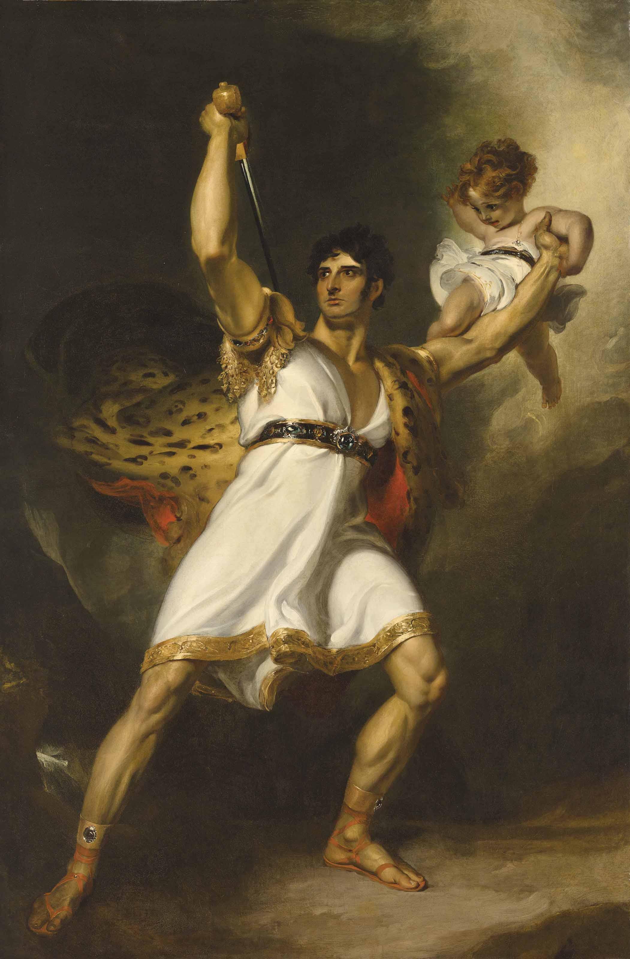 Portrait of John Philip Kemble (1757-1823), full-length, as Rolla from Sheridan's Pizarro