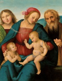 The Holy Family with the Infant Saint John the Baptist and an angel
