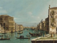 The Grand Canal, Venice, looking East, from the Campo San Vio