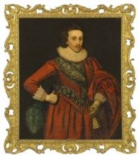Portrait of Sir Thomas Dallison, 1st Bt. of Laughton (1591-1645), three-quarter length, in a red doublet and breeches