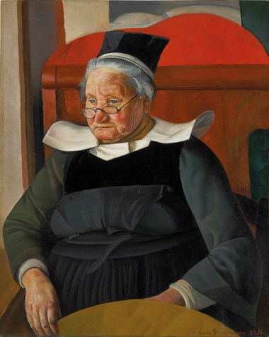 Boris Grigoriev (1886-1939), La Mère Agathe, 1924. Oil on canvas. 36⅜ x 29  in (92.2 x 73.7  cm). Sold for £368,750 on 4 June 2018 at Christie's in London