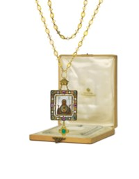 A JEWELLED GOLD PANAGIA