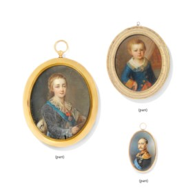 A GROUP OF FIVE PORTRAIT MINIATURES