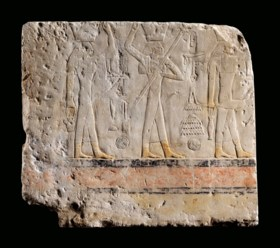 AN EGYPTIAN LIMESTONE RELIEF FOR SESHEMNEFER