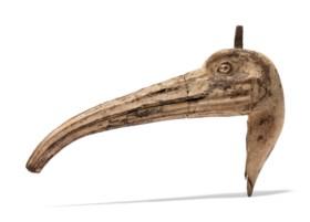 AN EGYPTIAN WOOD IBIS HEAD