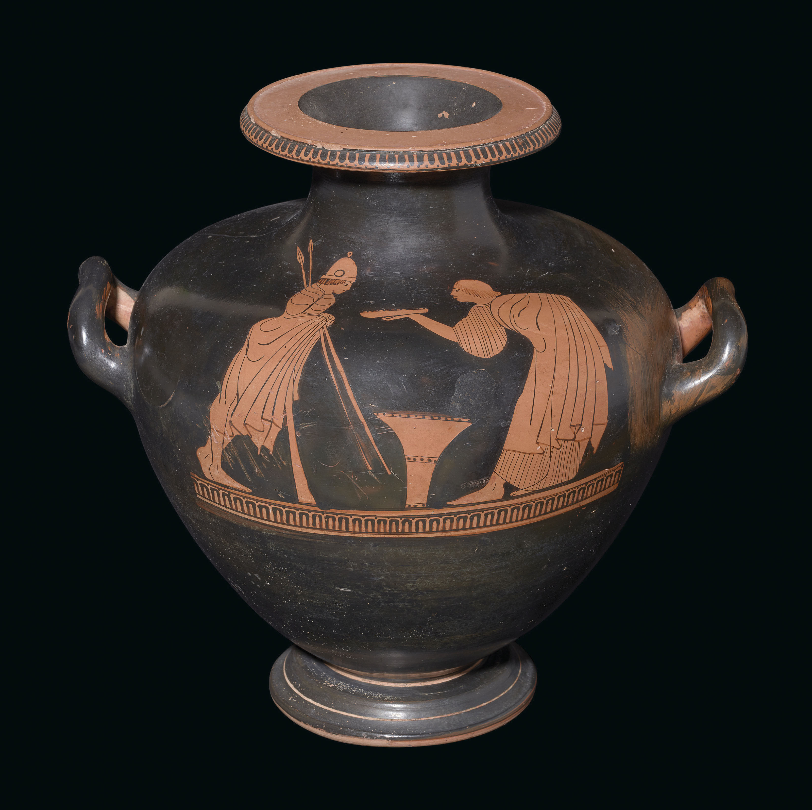 AN ATTIC RED-FIGURED HYDRIA