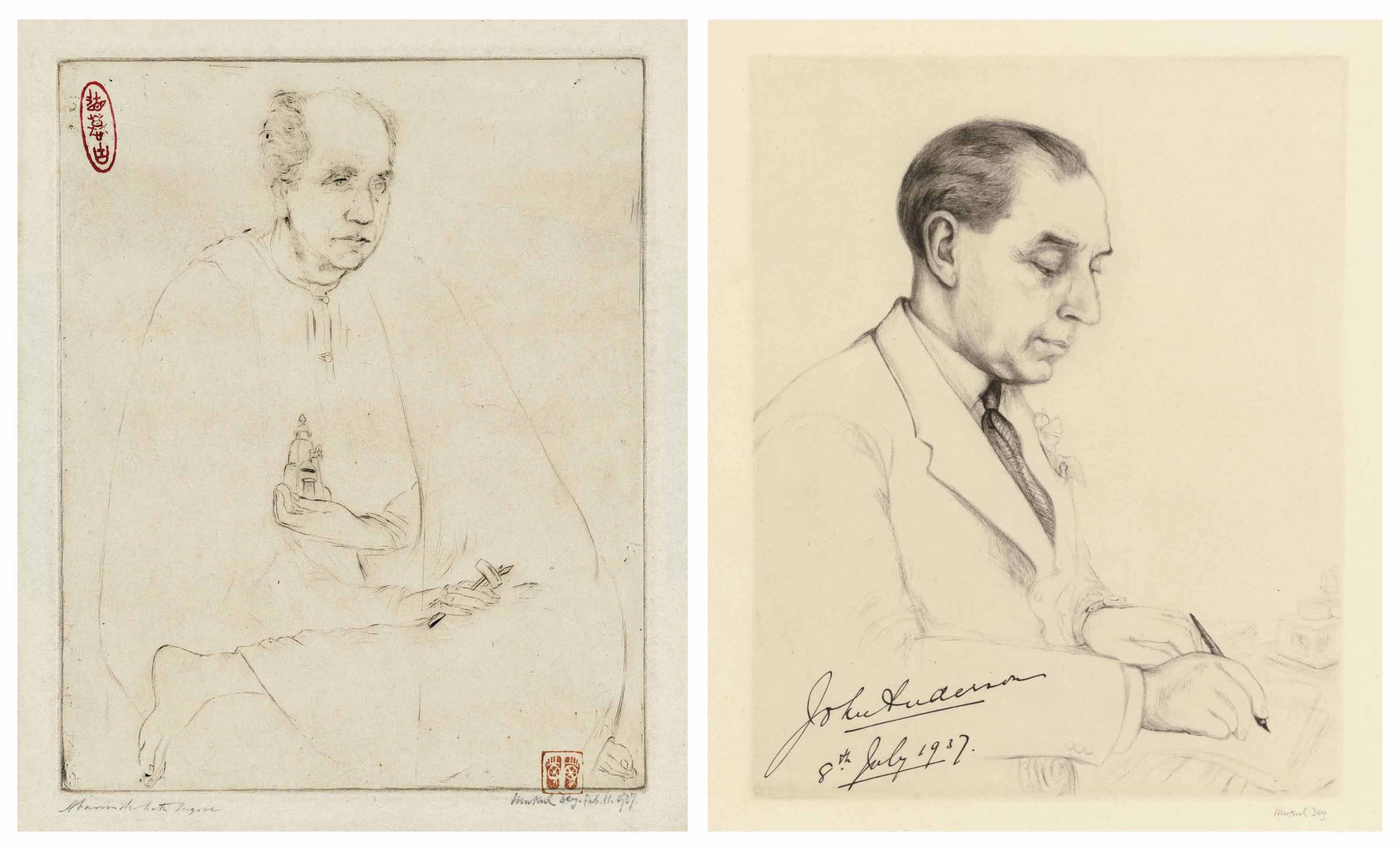 Portrait of Abanindranath Tagore; John Audesson, Governor of Bengal, 1937