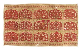 A LARGE MUGHAL TENT WALL PANEL