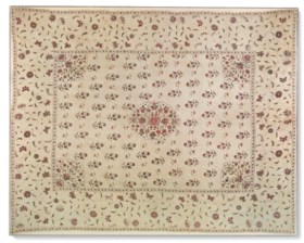 A LARGE AND FINELY EMBROIDERED FLOOR SPREAD