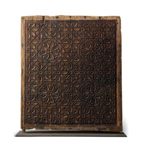 AN IMPORTANT MERINID WOODEN CEILING PANEL