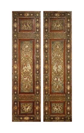 A PAIR OF SAFAVID-REVIVAL DOORS