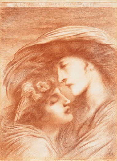 Simeon Solomon (1840-1905), Night and Her Child Sleep, 1892. 28⅞ x 22 in (73.2 x 55.8 cm). This lot was offered in Victorian Pre-Raphaelite & British Impressionist Art on 11 July 2018 at Christie's in London and sold for £47,500