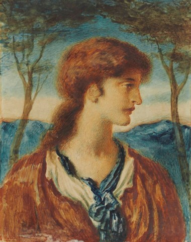 Simeon Solomon (1840-1905), Study of a Youth. 11⅛ x 8½  in (28.2 x 21.6  cm). This lot was offered in Victorian Pre-Raphaelite & British Impressionist Art on 11 July 2018 at Christie's in London and sold for £8,750