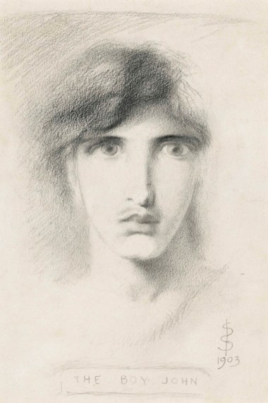 Simeon Solomon (1840-1905), The Boy John, 1903. 14⅝ x 10½  in (37.2 x 26.7  cm). This lot was offered in Victorian Pre-Raphaelite & British Impressionist Art on 11 July 2018 at Christie's in London and sold for £8,500