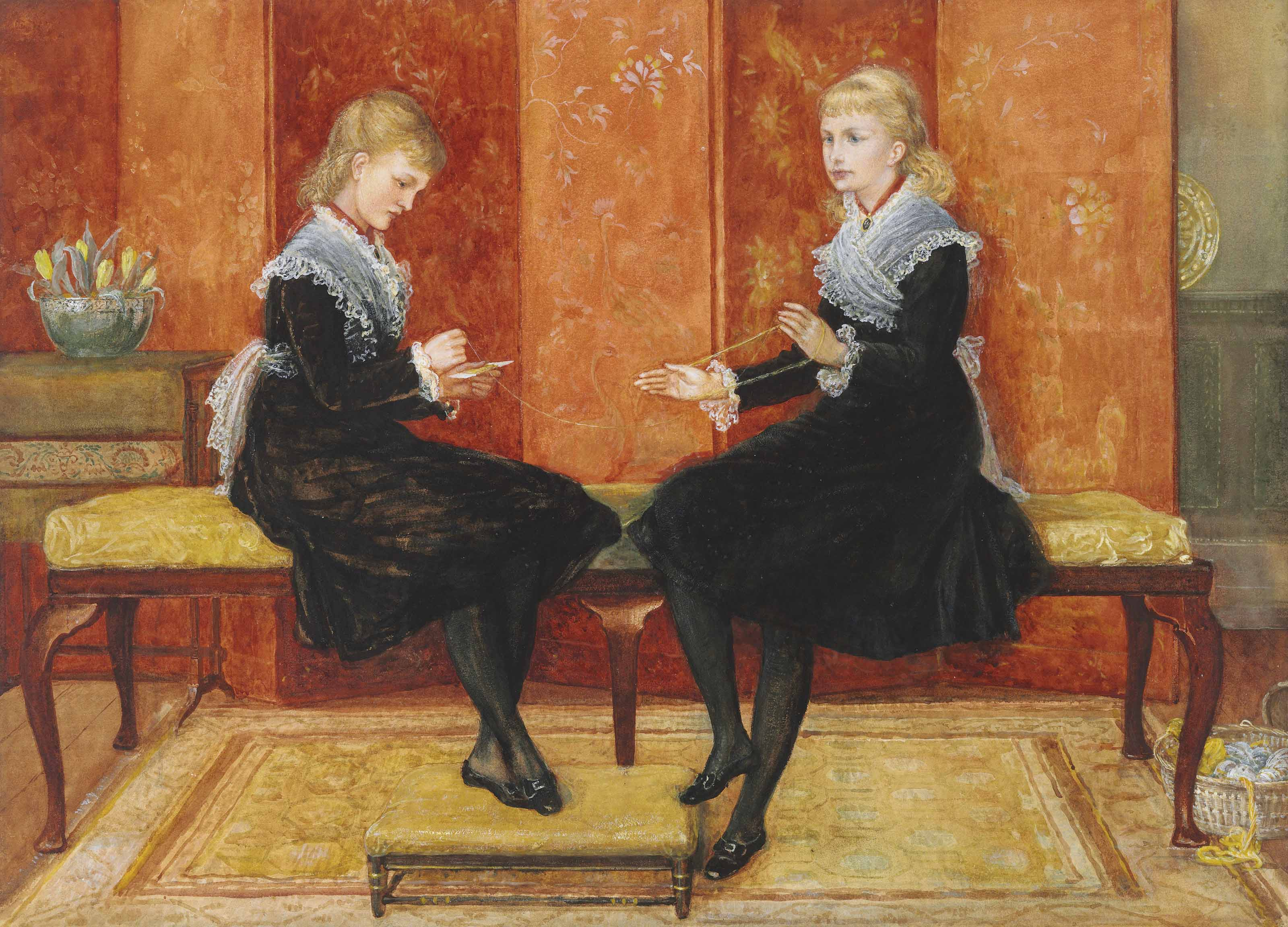 Violet and Lily, the daughters of Edmund Routledge