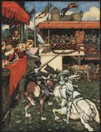 Sir Tristram defeats Sir Palamedes in Ireland