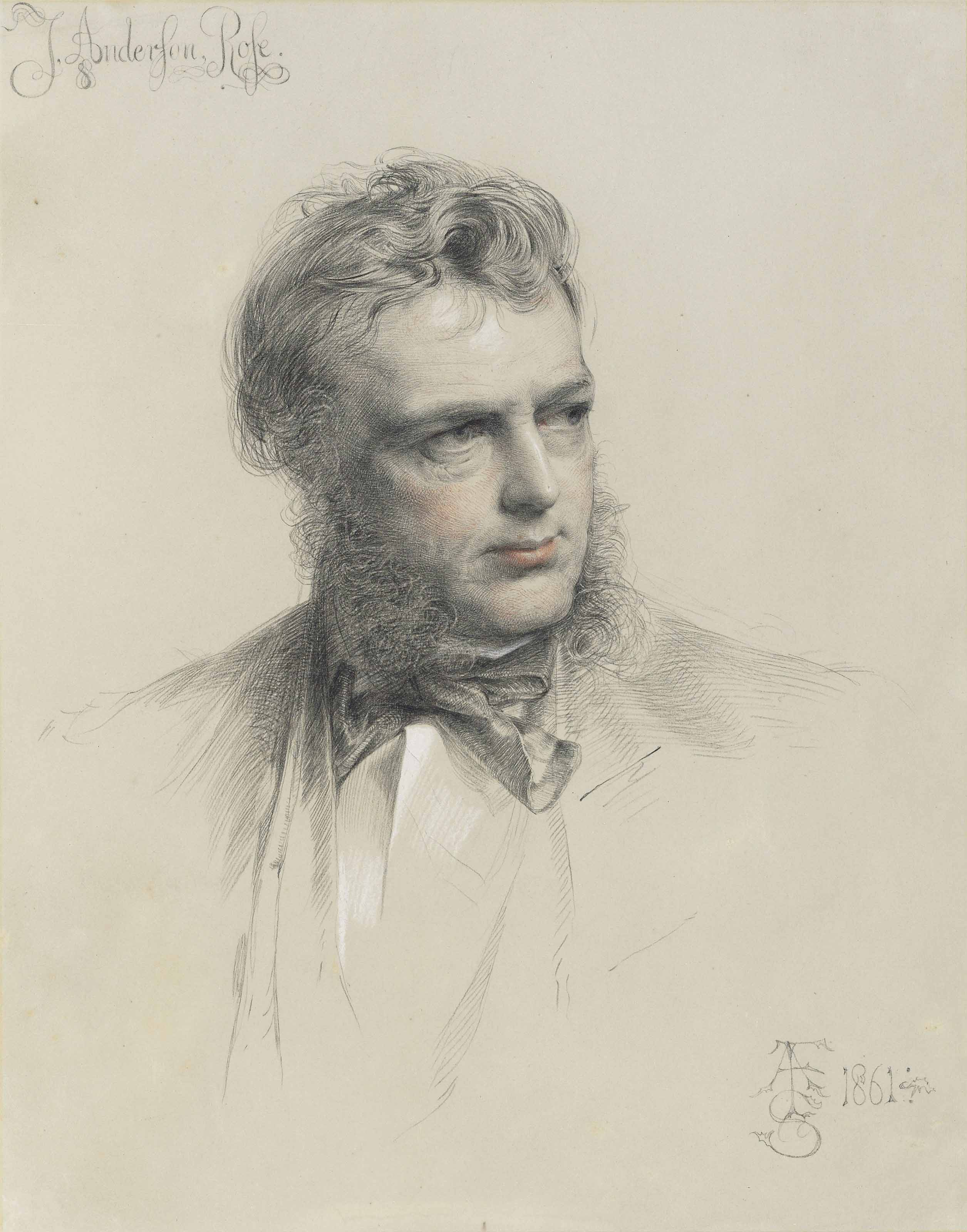 Portrait of James Anderson Rose, bust-length, his head turned to the right