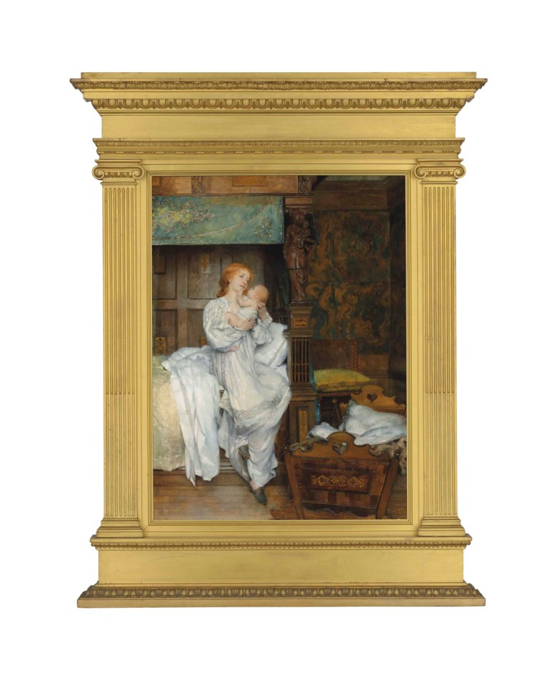Laura, Lady Alma-Tadema (1852-1909), Bright Be Thy Noon. Oil on canvas. 27 x 19¾  in (68.6 x 50.2  cm). Sold for £112,500 on 11 July 2018 at Christie's in London
