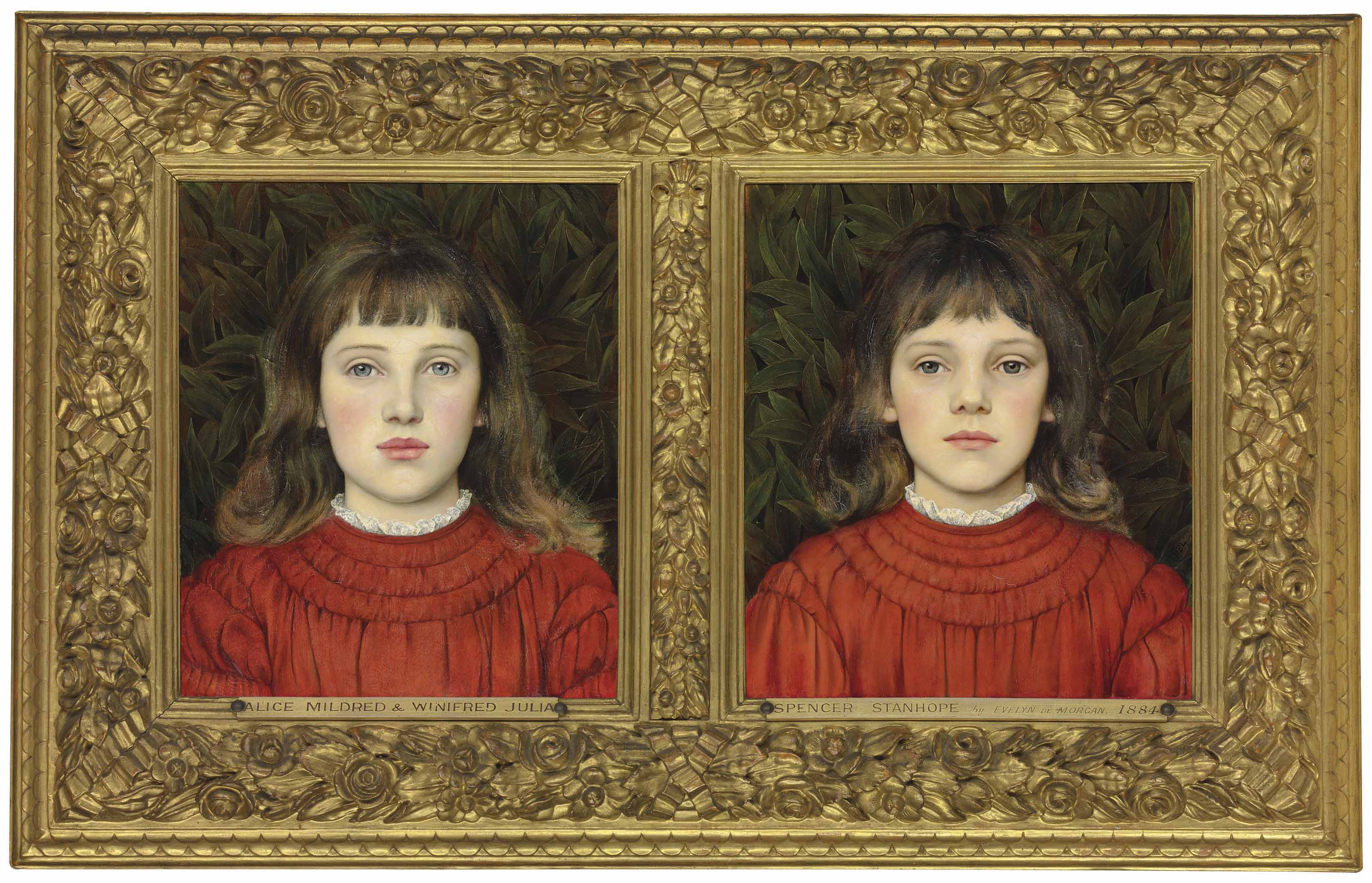 Portraits of Alice Mildred and Winifred Julia Spencer Stanhope