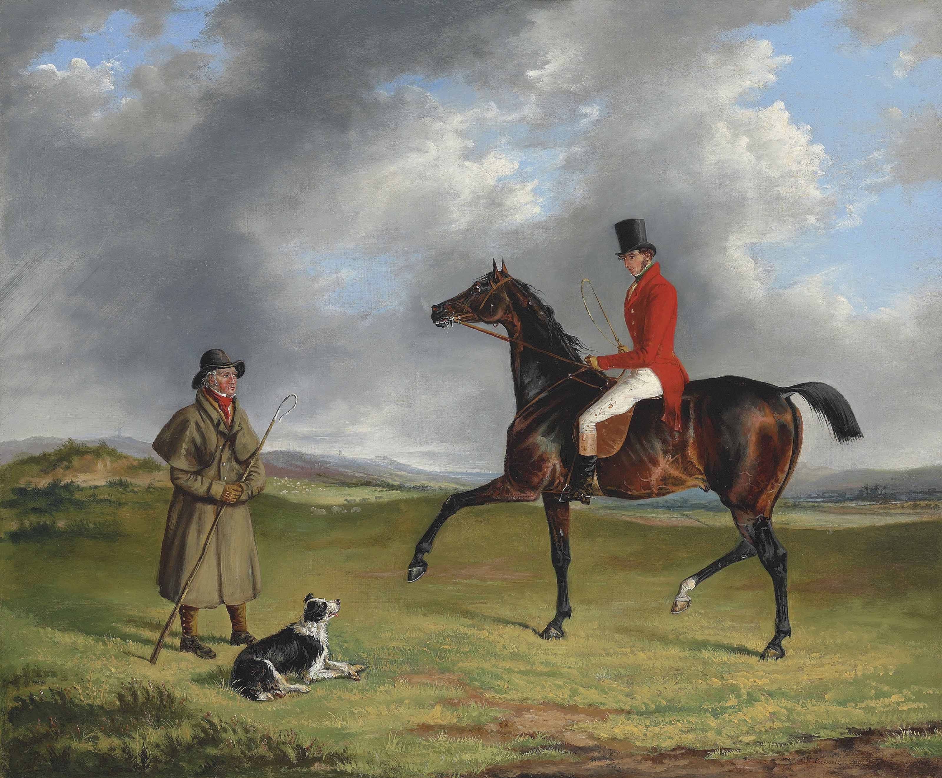 A sportsman thrown out, enquiring of a shepherd