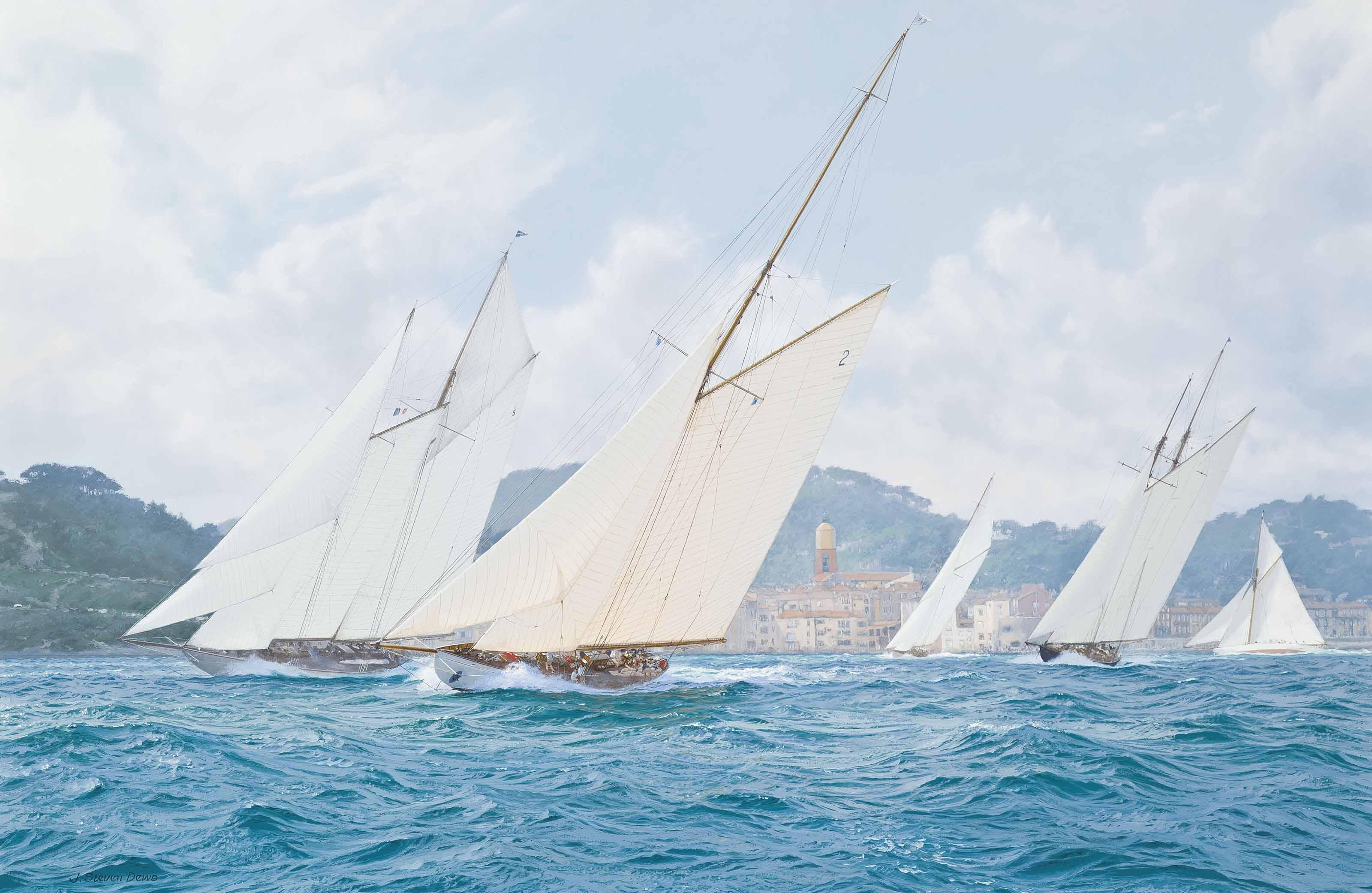 Les Voiles de Saint-Tropez, 1-7 October 2006: Lulworth hard on the wind off St Tropez