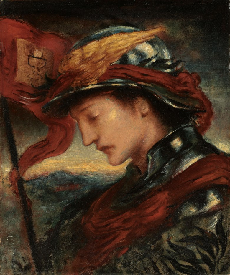 Simeon Solomon (1840-1905), The Knight of the Lords Passion. 24 x 20  in (61 x 50.8  cm). Estimate £30,000-50,000. Offered in Victorian, Pre Raphaelite & British Impressionist Pictures on 11 December 2018 at Christie's in London