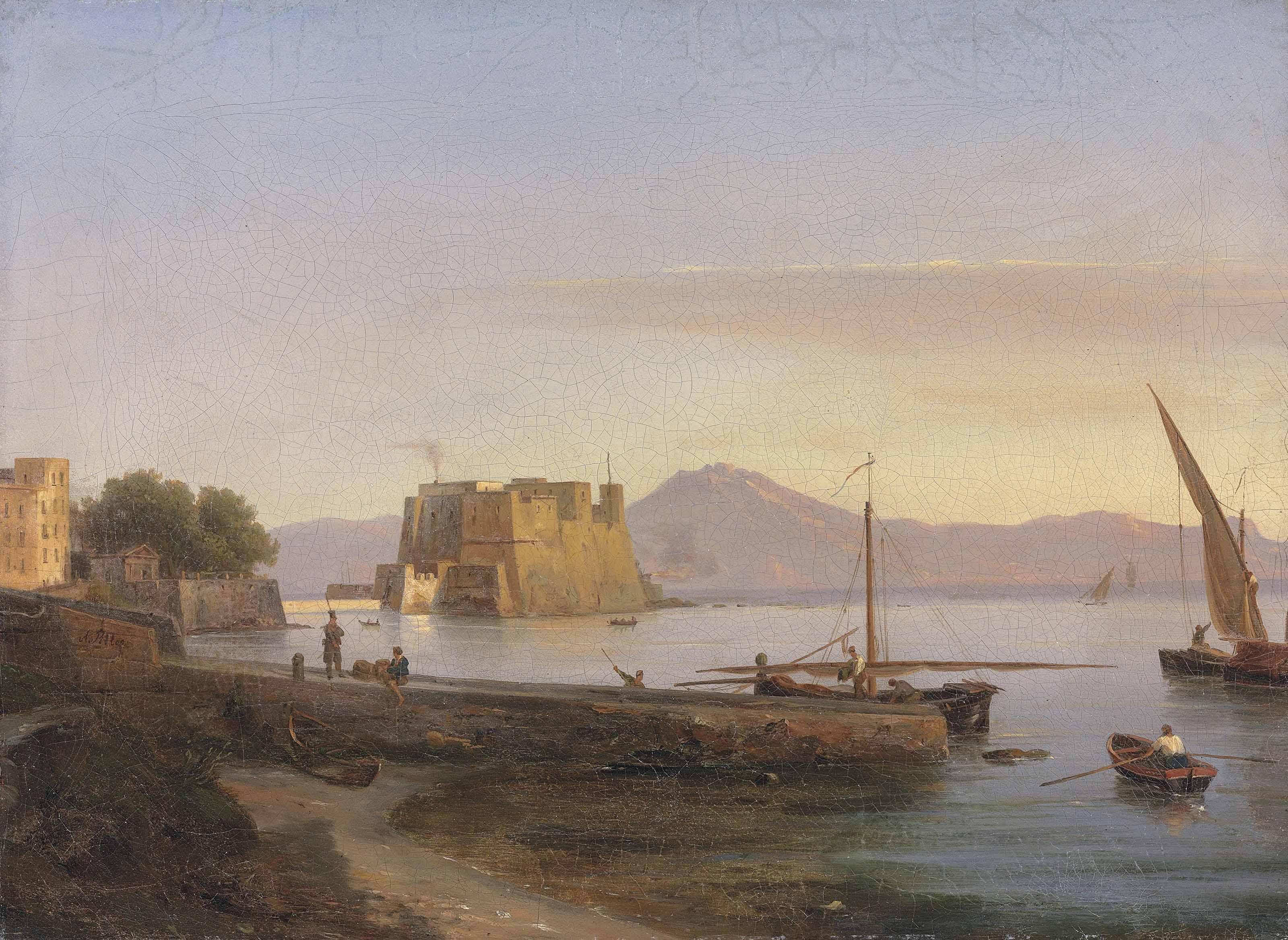 Fishermen Castel dell' Ovo, Naples