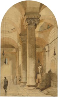 Interior of the Golden Gateway in the Temple area of Jerusalem