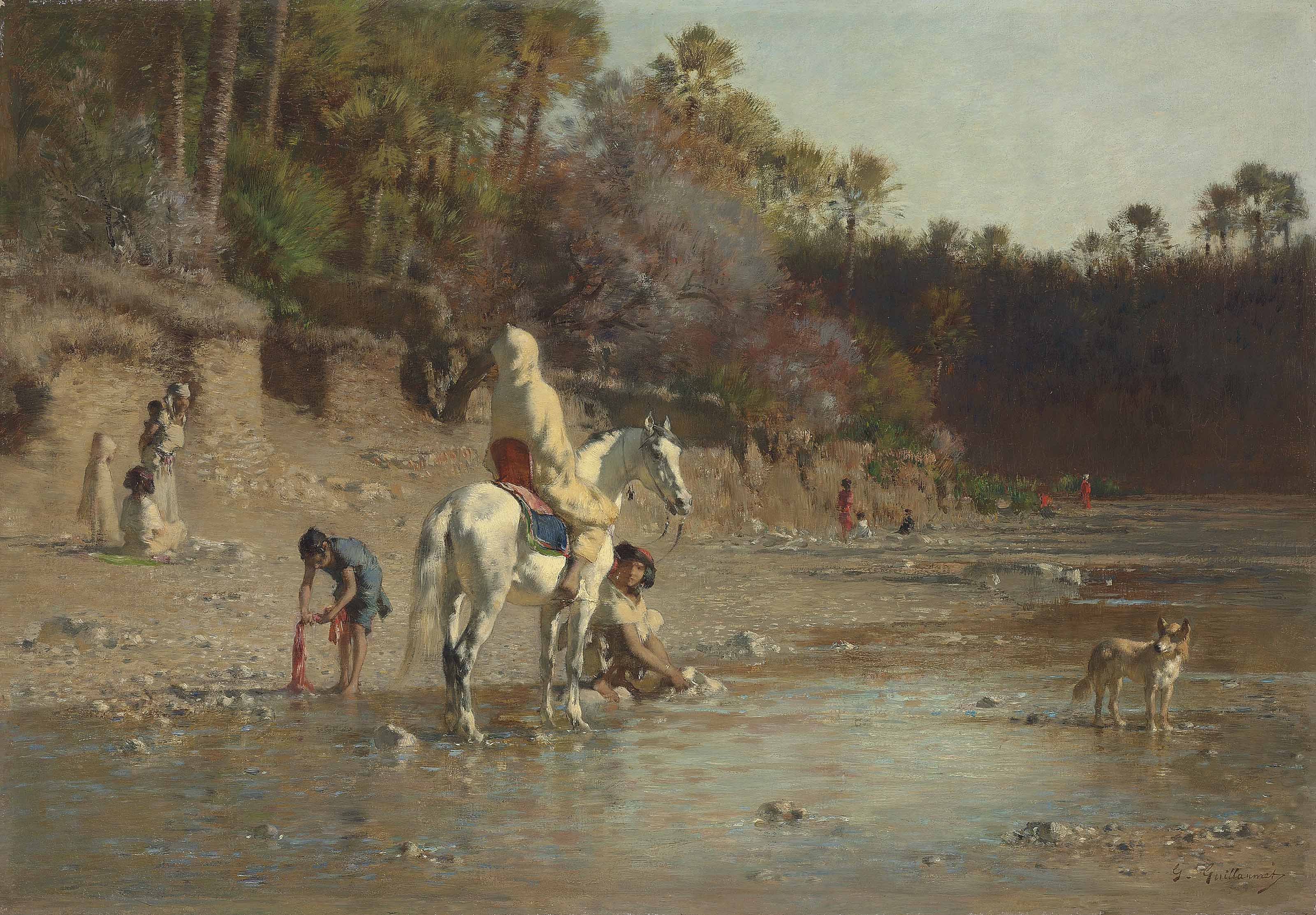 On the bank of the El Kantara river