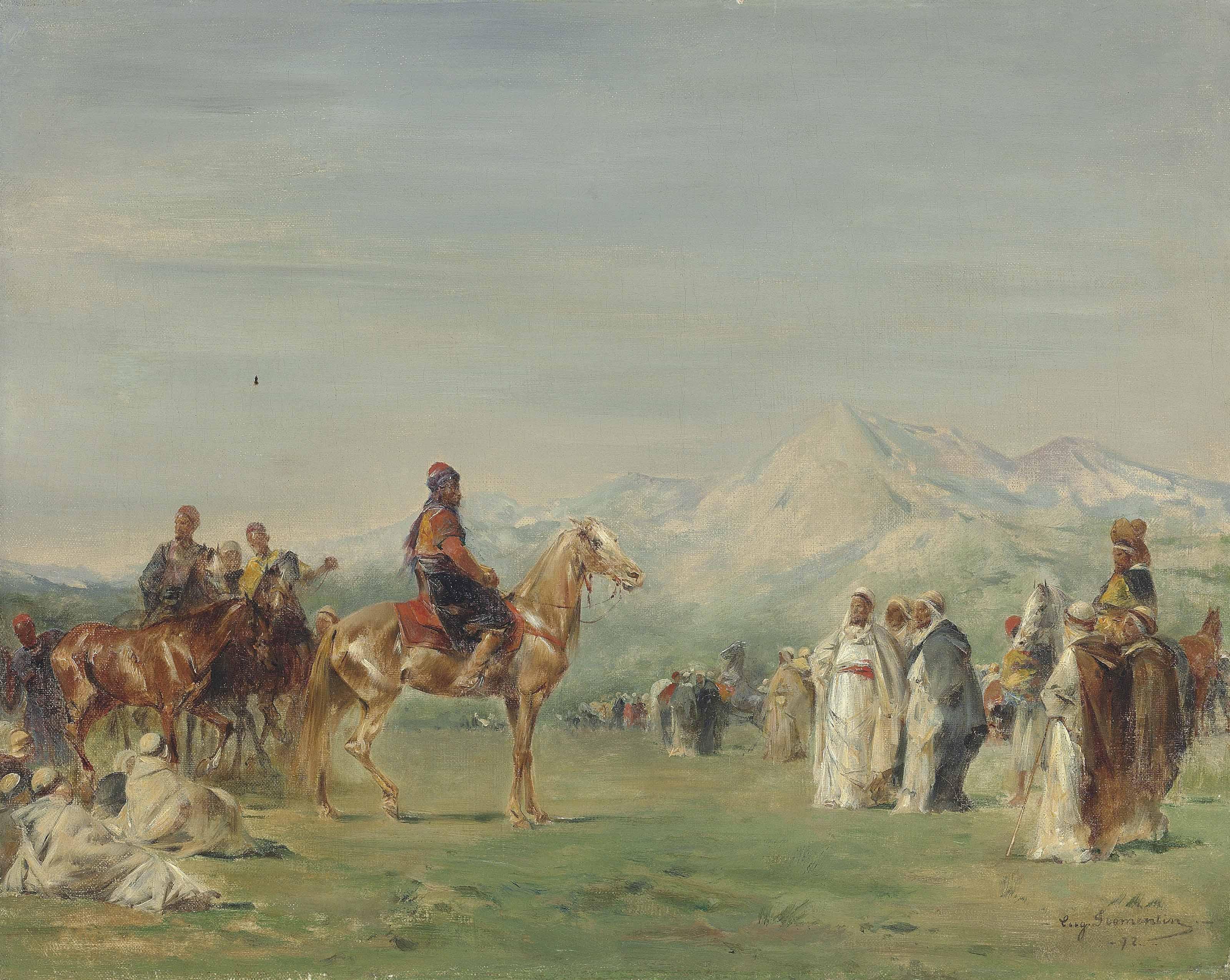 Campement arabe dans les montagnes de l'Atlas