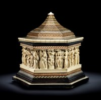 MARRIAGE CASKET WITH THE STORY OF PARIS