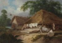 A village scene, Bengal