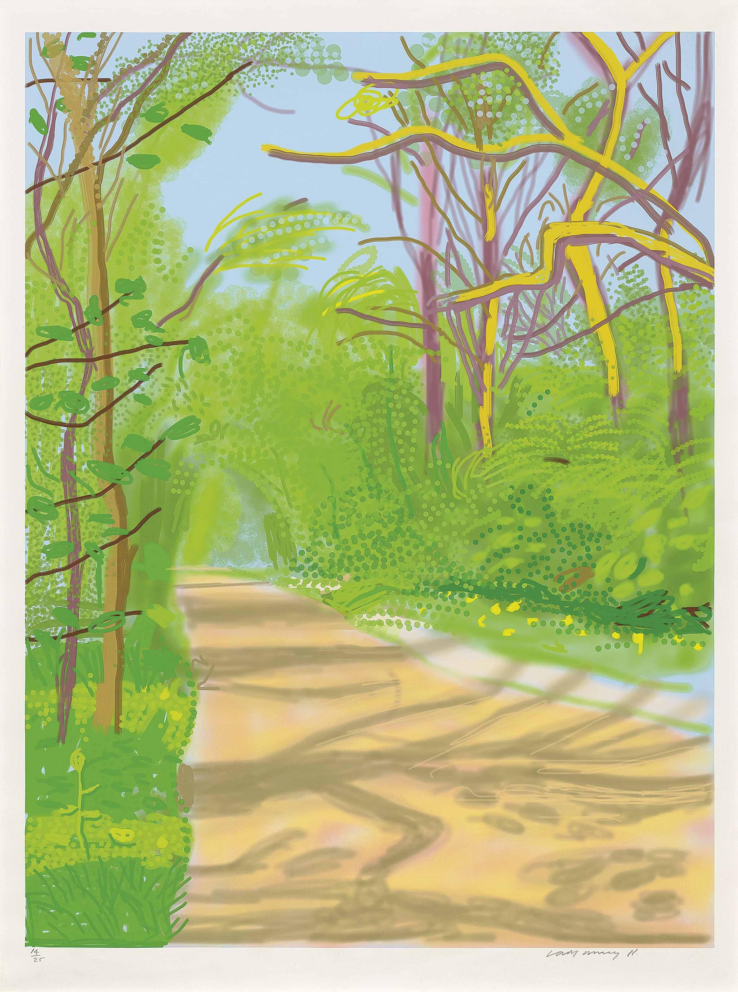 David Hockney B 1937 The Arrival Of Spring In