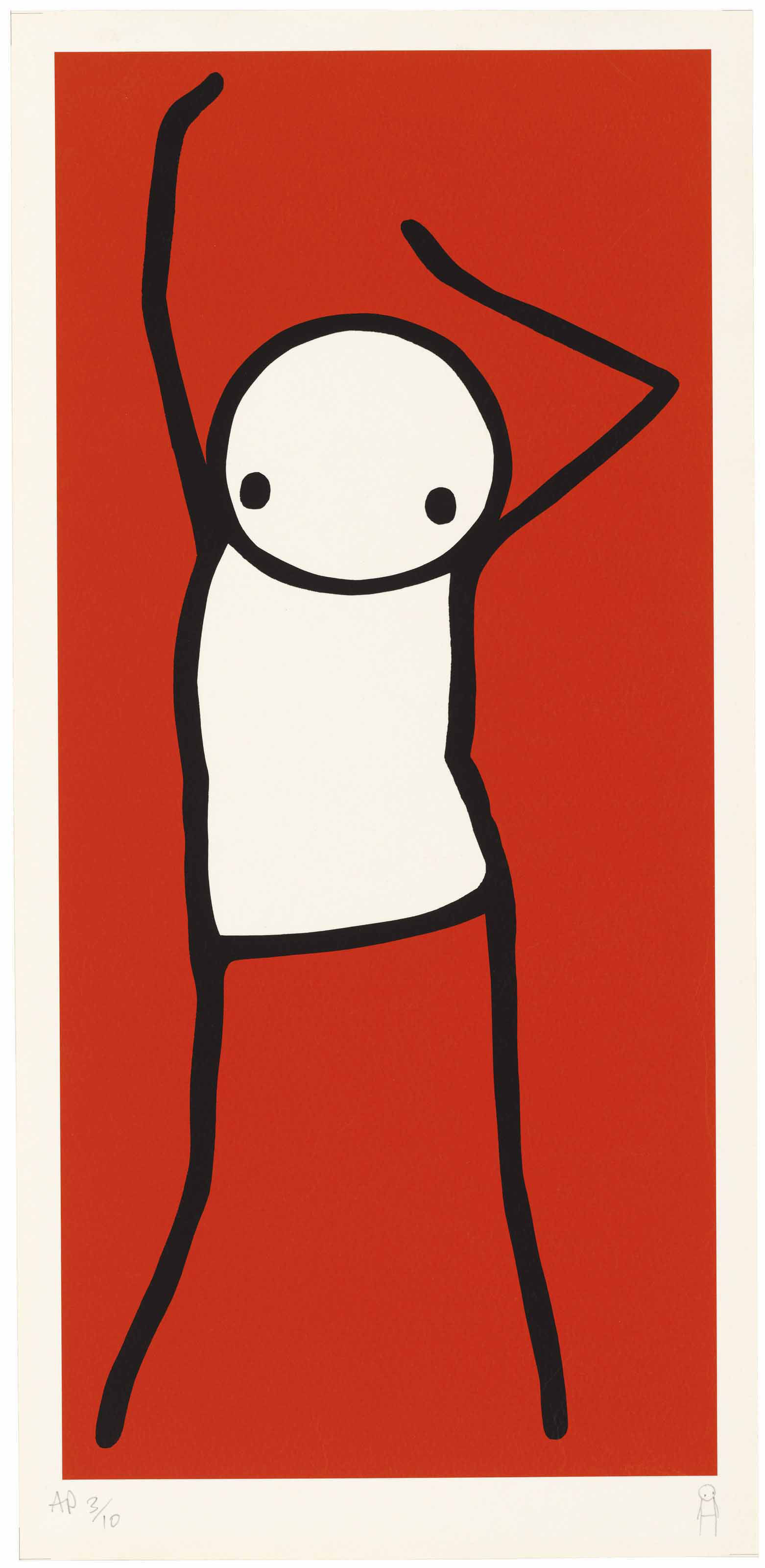 Stik (b. 1979), Dancer. Image 460 x 212  mm, Sheet 500 x 239  mm. Sold for £10,625 on 28 March 2018  at Christie's in London