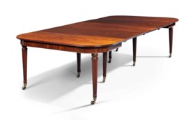 A REGENCY MAHOGANY 'IMPERIAL' EXTENDING DINING-TABLE