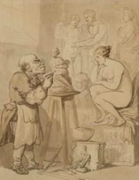 The sculptor Joseph Nollekens (1737-1823) and his 'Venus' in his studio