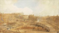 The Prince of Wales laying the foundation stone of the Theatre Royal, Covent Garden, 31 December 1808