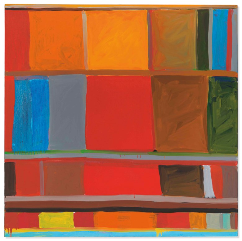 Stanley Whitney (b. 1946), Loose Dreams, painted in 2003. 40⅛ x 40¼ in (101.9 x 102.2  cm). Estimate £30,000-50,000. Offered in Post-War to Present on 28 June 2018 at Christie's in London