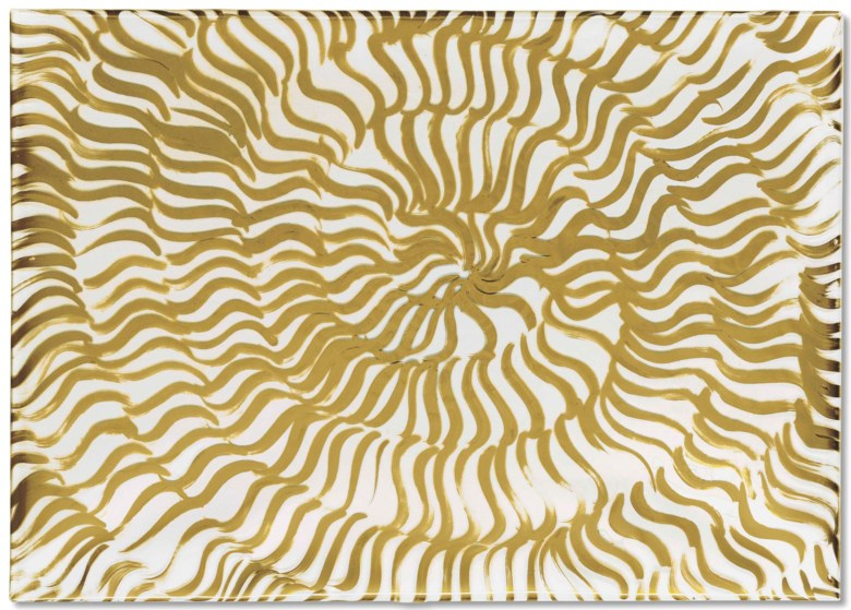 Carla Accardi (1924-2014), Bianco oro (White Gold), executed in 1966. 25¼ x 35 in (64.8 x 89 cm). Estimate £70,000-100,000. Offered in Post-War to Present on 28 June 2018 at Christie's in London