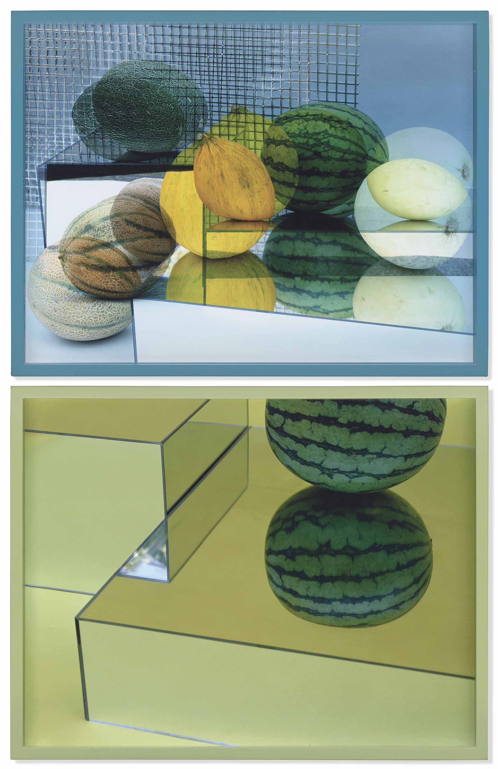 (i) Circles and Squares (A Tasteful Organic Melons Arrangement) 1 (ii) One Watermelon, Two Heads