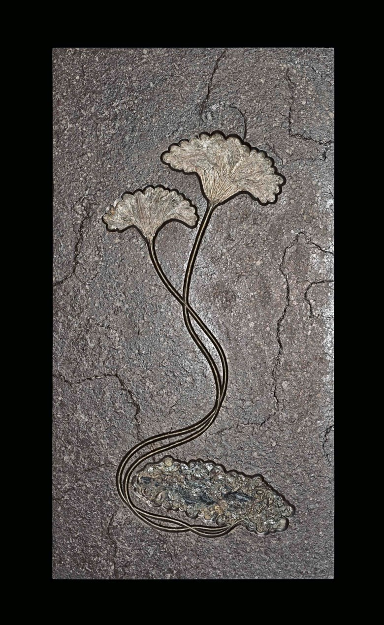 A double fossil sea lily plaque, Germany. 71 x 37½  in (180.3 x 95.3  cm). Estimate £25,000-35,000. Offered in Science and Natural History on 10 July 2018 at Christie's in London