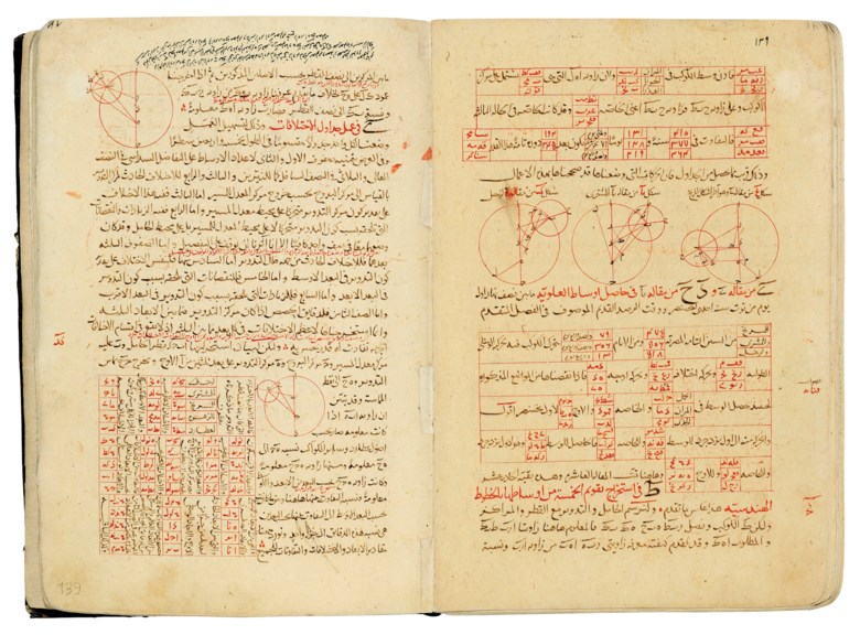 Nasir al-din al-Tusi (died 1274), A compendium of treatises on astronomy and mathematics, 1279. Folio 9⅝ x 6⅝ in (24.4 x 16.6 cm). Estimate £300,000-500,000. This lot is offered in Art of the Islamic and Indian Worlds Including Oriental Rugs and Carpets on 26 April at Christie's in London