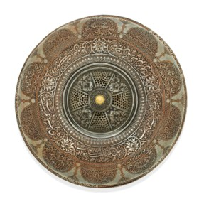 A SAFAVID TINNED-COPPER LID