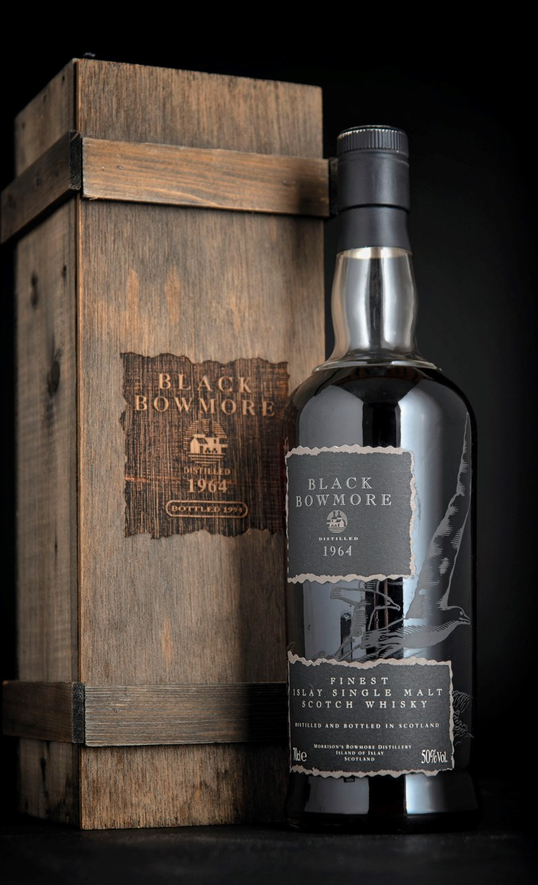 Christie's can help broker the private sale of whiskies such as thisBlack Bowmore 1964, which was sold at auction in London for £18,000 on 29 November 2018
