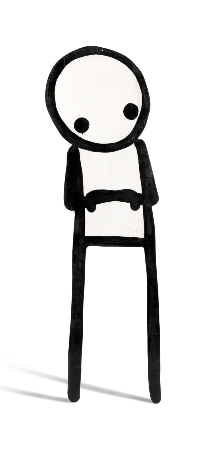 Stik (b. 1979), Up on the Roof, 2360 x 675 x 10 mm (overall). 2360 x 675 x 10  mm (overall). Sold for £150,000 on 20 September 2018 at Christie's in London, a record price for a work by the artist.