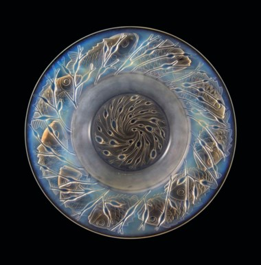 An Anvers bowl, no. 408, designed 1930. 15½  in (39.4  cm) diameter. Sold for £5,000 in Lalique on 15 May at Christie's in London