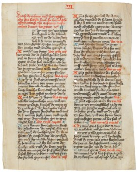 A LEAF FROM THE REVELATIONS OF ST BRIDGET OF SWEDEN, in Germ