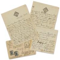 TCHAIKOVSKY, Pyotr Ilyich (1840-1893). Autograph letter and music signed ('P. Tchaikovsky'; in Cyrillic) to Eduard Francevic Nápravník, Moscow, 5 January 1885.