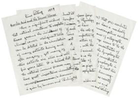 PAULING, Linus (1901-1994) Autograph manuscript signed ('Lin
