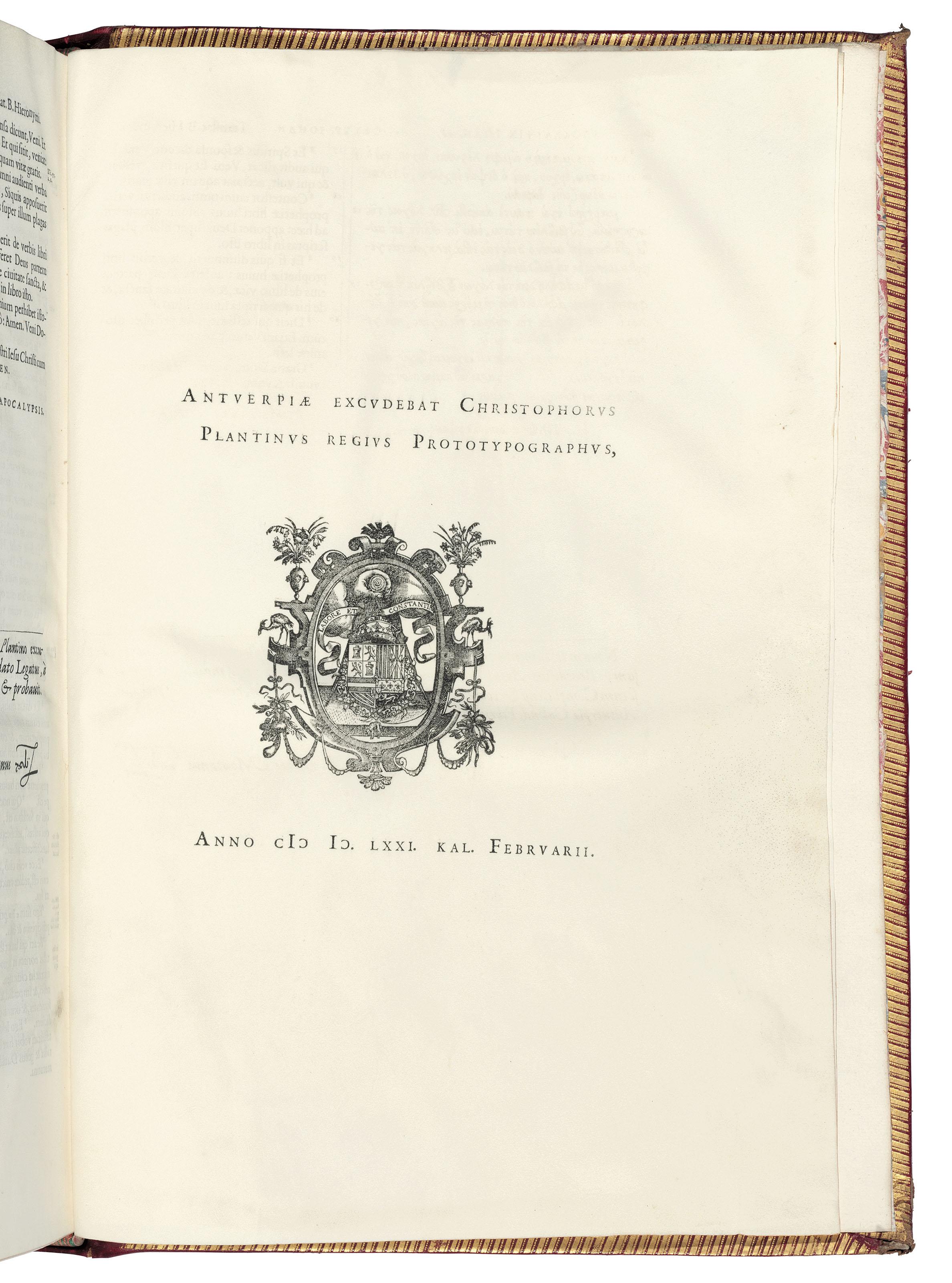The Plantin Polyglot Bible
